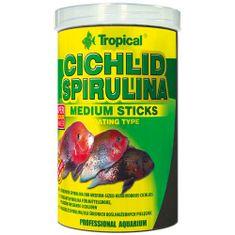 TROPICAL Cichlid Spirulina Medium Sticks 1000ml/360g lebegő pálcikás haltáp közepes méretű sügéreknek