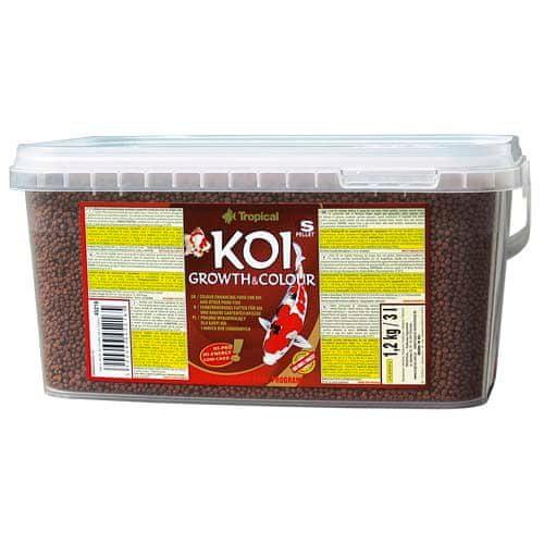 TROPICAL Koi Growth & Colour Pellet S 3l/1,2kg vyfarbujúce krmivo pre jazierkové ryby