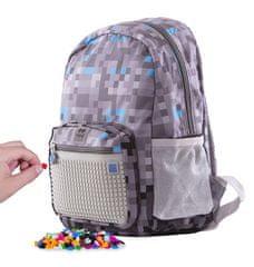 Pixie Crew Minecraft kreativna školska torba, sivo-plava