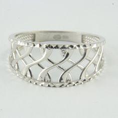 Amiatex Zlatý prsteň 64378 + Rúška biela