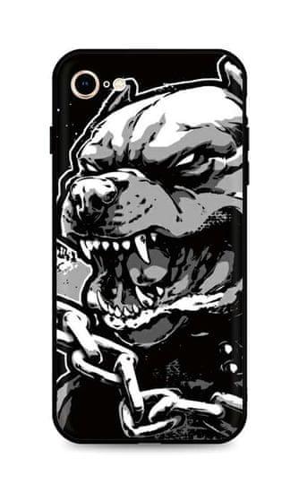 TopQ Kryt iPhone SE 2020 silikón Aggressive Pitbull 49289