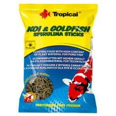 TROPICAL Koi&Goldfish Spirulina Sticks 1l/90g plávajúce krmivo pre ryby do jazierka