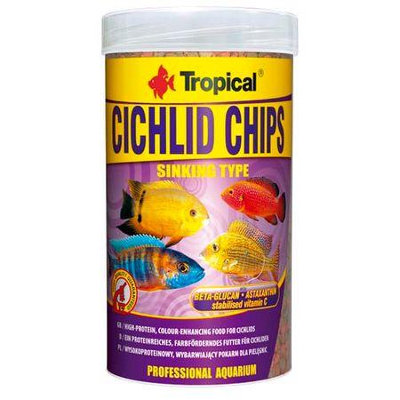 TROPICAL Cichlid Chips 250ml/130g színélénkítő eledel sügéreknek