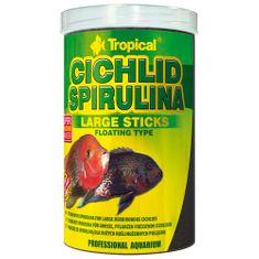 TROPICAL Cichlid Spirulina Large Sticks 1000ml/300g krmivo vo forme plávajúcich tyčiniek pre veľké cichlidy