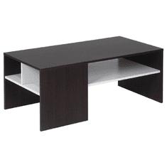 TEMPO KONDELA Konferenčný stolík, orech/biela, VIENNA NEW