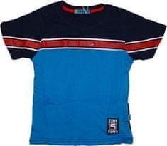 KUGO Chlapecké tričko Time super s červeným pruhem.