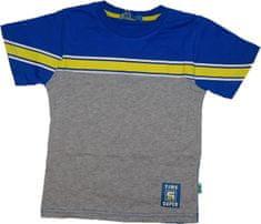 KUGO Chlapecké tričko Time super s žlutým pruhem.