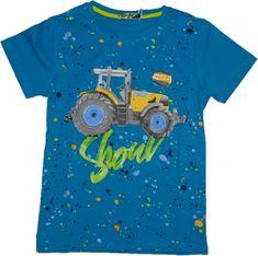 KUGO Chlapecké tričko se žlutým traktorem.