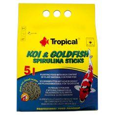 TROPICAL Koi&Goldfish Spirulina Sticks 5l/400g plávajúce krmivo pre ryby do jazierka