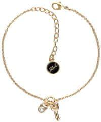 Karl Lagerfeld Pozlátený náramok Lock & Key 5512241