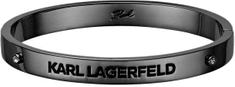 Karl Lagerfeld Pevný náramok s výrazným logom 5545268