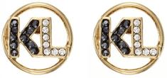 Karl Lagerfeld Pozlátené náušnice s logom 5483700
