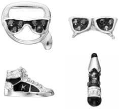 Karl Lagerfeld Sada čtyř náušnic Mini Multi-Charms 5512304