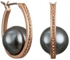 Karl Lagerfeld Kruhové náušnice s perlou a kryštály 5465726