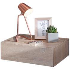 Bruxxi Nočný stolík Tula, 46 cm, dub