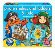 Orchard Toys Pirátské žebříky a hadi a Ludo