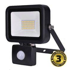 Solight LED venkovní reflektor PRO 30W/230V/5000K/2550Lm/IP44, senzor pohybu, černý