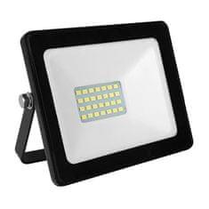 ACA LED venkovní reflektor Q 20W/12-24V DC/6000K/1760Lm/110°/IP66, černý