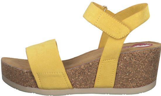 s.Oliver dámske sandále 28336 36 žltá