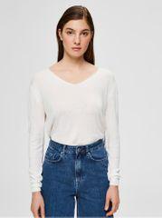 Selected Femme bílý lehký svetr s příměsí lnu