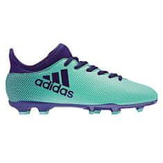 Adidas Dětské kopačky , X 17.3 FG | Tyrkysová | 38