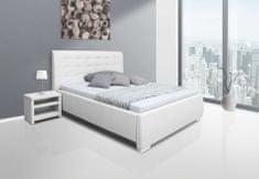 We-Tec Manželská posteľ ADELA 2, 180x200 cm s úložným priestorom + 2 ks bočne výklopné bukové rošty