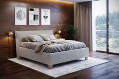 We-Tec Manželská posteľ ANITA 1 s olemovaním, béžová, 180x200 cm s úložným priestorom + 2 ks bočne výklopné bukové rošty