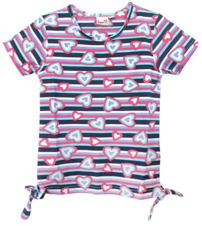 Topo dekliška majica, 134, roza/modra
