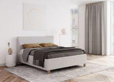 We-Tec Manželská posteľ IVONA, 180x200 cm s úložným priestorom + 2 ks bočne výklopné bukové rošty