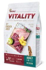 Akinu VITALITY karma dla psa, dorosłego, średniej rasy, kurczak i wołowina 3 kg