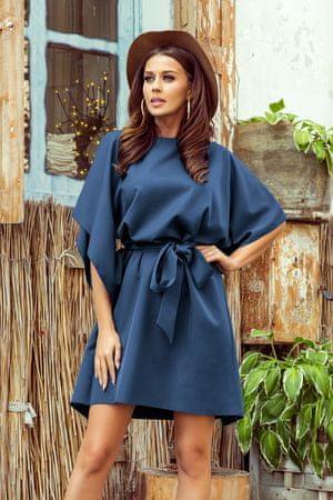 Numoco Női ruha 287-7 Sofia + Nőin zokni Sophia 2pack visone, kék, L/XL