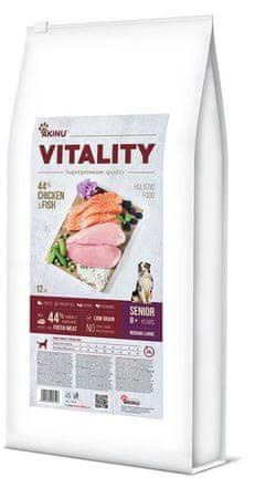 Akinu VITALITY karma dla psa, senior, średniej/dużej rasy, kurczak i ryby 12 kg