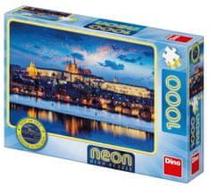 DINO slagalica grad Prag, 1000 neon puzzle