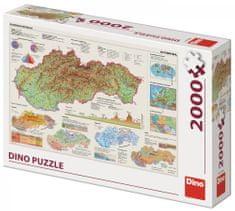 DINO Mapa Słowacji 2000 elementów