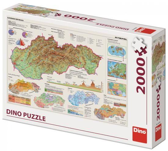 Dino Mapa Slovenska 2000 dílků