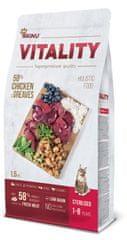 Akinu VITALITY karma dla kota, sterylizowanego, kurczak i skwarki 1,5 kg