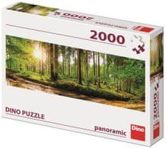 Dino Svítání v lese 2000 panoramic puzzle