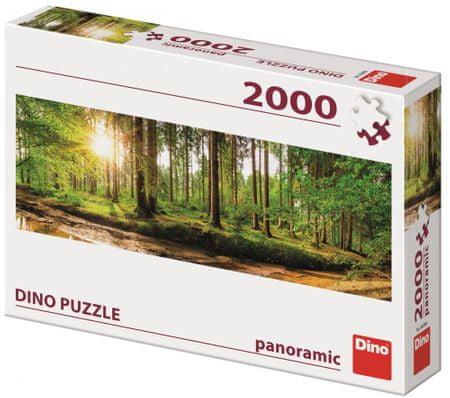 Dino sestavljanka Zora v gozdu, 2000 kosov, panoramska sestavljanka