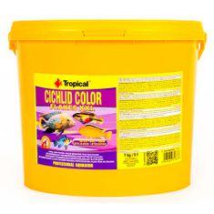 TROPICAL Cichlid Color XXL 5l/1kg vyfarbujúce krmivo pre cichlidy s vysokým obsahom bielkovín