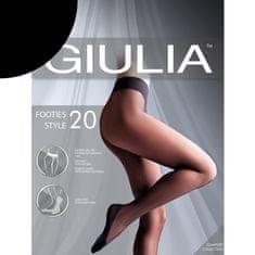 Giulia Dámské punčocháče bez zesílení s bavlněným chodidlem FOOTIES 20DEN