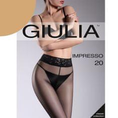 Giulia Dámské punčocháče bez zesílení s krajkovým pasem IMPRESSO 20DEN