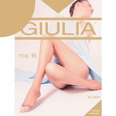 Giulia Dámské jemné punčocháče bez zesíleného sedu s otevřenou špicí TOE 15DEN