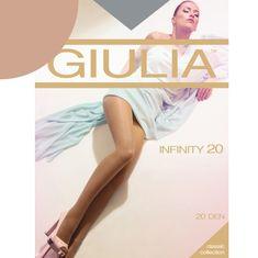 Giulia Luxusní dámské extra jemné punčocháče bez zesílení INFINITY 8DEN