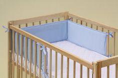 Scarlett Mantinel do dětské postýlky - Scarlett froté - 180 x 20 cm - modrá