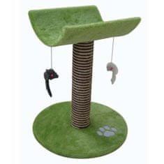 COBBYS PET CATTY Mačací strom 53cm zelený s ležadlom a hračkami