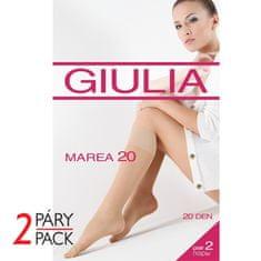 Giulia Dámské elastické punčochové ponožky s příjemným lemem EASY 20 DEN