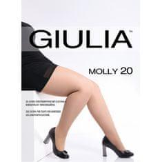 Giulia Nadměrné dámské elastické zkrácené punčocháče s klínem MOLLY 20 DEN