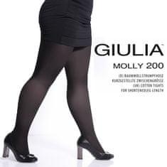 Giulia Nadměrné dámské bavlněné zkrácené punčocháče s klínem MOLLY 200 DEN