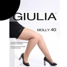 Giulia Nadměrné dámské elastické zkrácené punčocháče s klínem MOLLY 40 DEN