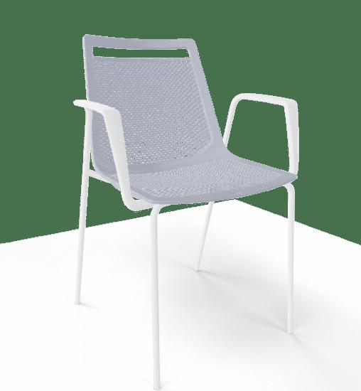 GABER Židle AKAMI TB, šedá/bílá - set 2ks